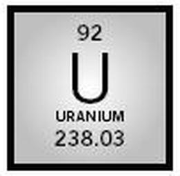 Basic information uranium symbol of uranium that would be seem on the periodic table urtaz